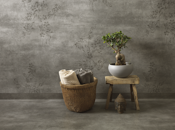 Aquarelle Concrete Flower Grey